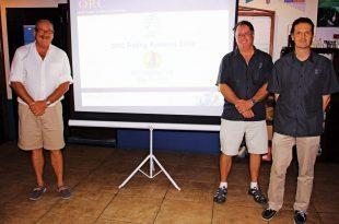 Offshore Racing Congress St. Maarten : ORC presentation at the Sint Maarten Yacht Club, from left: Paul Miller, Zoran Grubisa and Dobbs Davis. Photo: OceaMedia