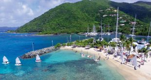 BVI Dinghy Championships : Sailors head to the course from Nanny Cay. Photos by Todd VanSickle