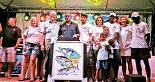 Top Teams Antigua Fishing : The team from Vitamin B take the podium. Credit: Micheal Simon