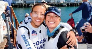 Quantum Women's Sailor : Nikki Barnes (left) and team mate Anna Morin at the Sperry Women's National Championship in San Diego, California
