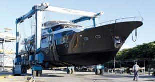Caribbean boatyard