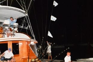 Pescador won the 2015 USVI Open/Atlantic Blue Marlin Tournament with 5 releases in two days. Credit: Dean Barnes