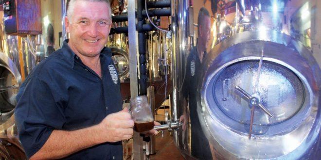 Brewmaster Mark Heath sampling the product