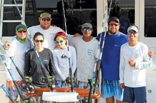 The victorious Dhara Fishing Team