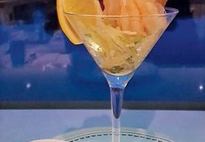 SHRIMP COCKTAIL – Shrimp with a cognac cocktail sauce on crispy lettuce salad with lemon and Melba toast