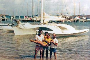 Trimaran Alien in St Croix with Jody Colbert, Scooter Mejia, Scottish Katie, and Joe Colpitt