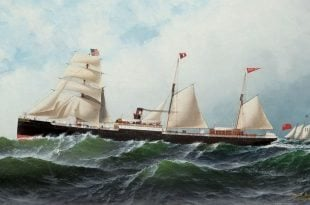 The auxiliary steamship Somerset (1877) – With the introduction of steam-power vessels came new rules for the prevention of collisions