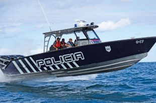 Metal Shark 36 Fearless built for the Puerto Rico Police Department