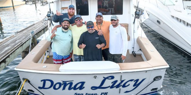 The Doña Lucy Team from Puerto Rico wins the 45th USVI Open/Atlantic Blue Marlin Tournament. Credit: Richard Gibson