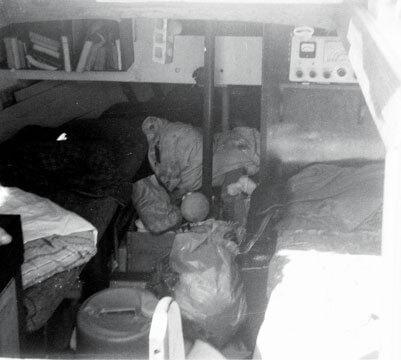 Interior of Corina 1968 (note RDF and flypaper)