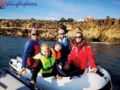 Viking Explorers Aurora is a Hallberg Rassy 41 Ketch with a Swedish Norwegian family on board formed by Robert, Jessica and three kids Melwin (8), Milo (6) and Leon (4)